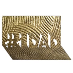 Brushed Gold 050549 #1 Dad 3d Greeting Card (8x4)