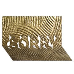 Brushed Gold 050549 Sorry 3d Greeting Card (8x4)