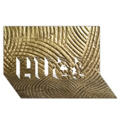 Brushed Gold 050549 HUGS 3D Greeting Card (8x4)