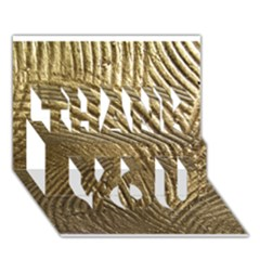 Brushed Gold 050549 THANK YOU 3D Greeting Card (7x5)