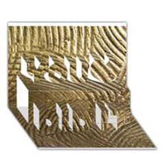 Brushed Gold 050549 You Did It 3d Greeting Card (7x5)