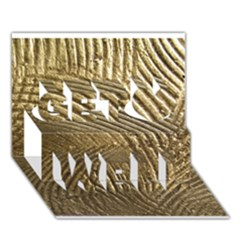 Brushed Gold 050549 Get Well 3D Greeting Card (7x5)