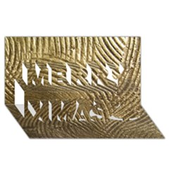 Brushed Gold 050549 Merry Xmas 3D Greeting Card (8x4)