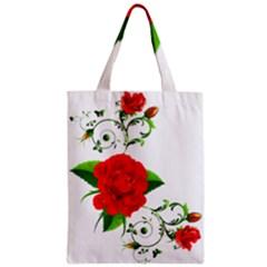 Rose Garden Zipper Classic Tote Bags