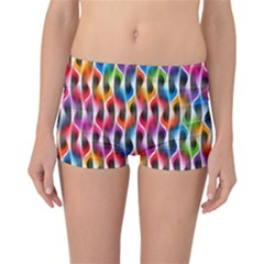 Rainbow Psychedelic Waves  Reversible Boyleg Bikini Bottoms