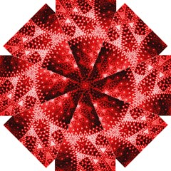 Red Fractal Lace Straight Umbrellas