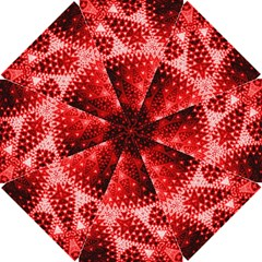 Red Fractal Lace Golf Umbrellas