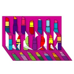 Lipsticks Pattern Mom 3d Greeting Card (8x4)