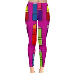 Lipsticks Pattern Women s Leggings