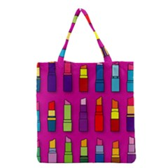 Lipsticks Pattern Grocery Tote Bags