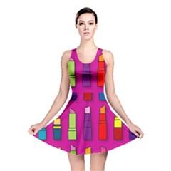 Lipsticks Pattern Reversible Skater Dresses