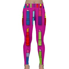 Lipsticks Pattern Yoga Leggings