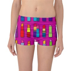 Lipsticks Pattern Reversible Boyleg Bikini Bottoms