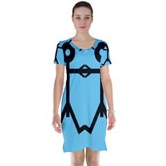 Love Men Icon Short Sleeve Nightdresses
