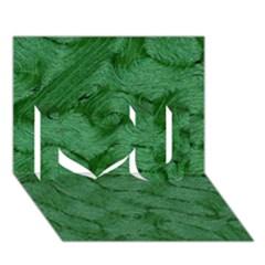 Woven Skin Green I Love You 3D Greeting Card (7x5)