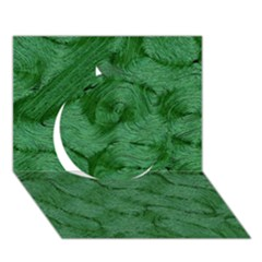 Woven Skin Green Circle 3D Greeting Card (7x5)