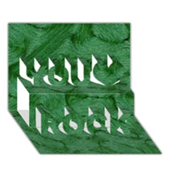 Woven Skin Green You Rock 3D Greeting Card (7x5)