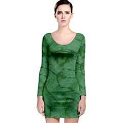 Woven Skin Green Long Sleeve Bodycon Dresses