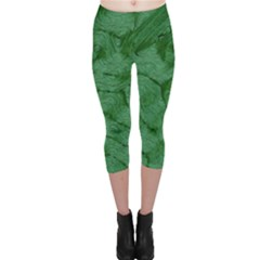 Woven Skin Green Capri Leggings