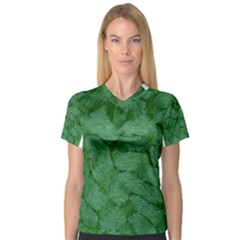 Woven Skin Green Women s V-Neck Sport Mesh Tee