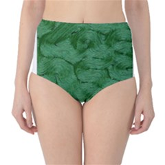 Woven Skin Green High-Waist Bikini Bottoms
