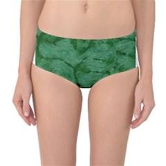 Woven Skin Green Mid Waist Bikini Bottoms