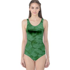 Woven Skin Green Women s One Piece Swimsuits