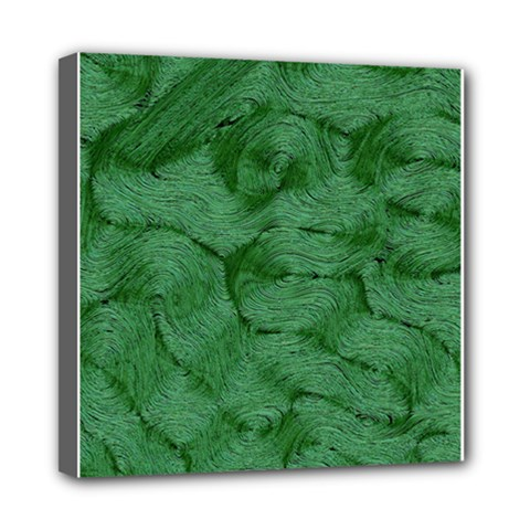 Woven Skin Green Mini Canvas 8  X 8