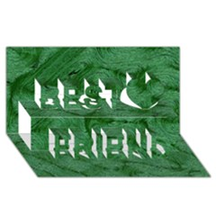 Woven Skin Green Best Friends 3d Greeting Card (8x4)