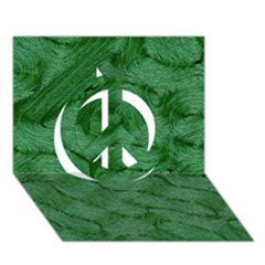 Woven Skin Green Peace Sign 3D Greeting Card (7x5)