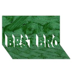 Woven Skin Green Best Bro 3d Greeting Card (8x4)