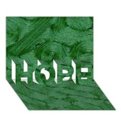 Woven Skin Green Hope 3d Greeting Card (7x5)