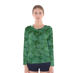 Woven Skin Green Women s Long Sleeve T Shirts
