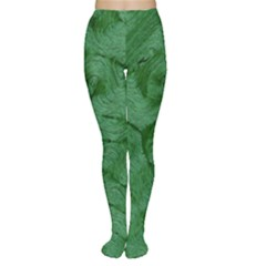Woven Skin Green Women s Tights
