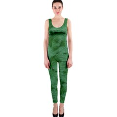 Woven Skin Green OnePiece Catsuits