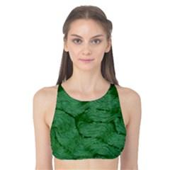 Woven Skin Green Tank Bikini Top
