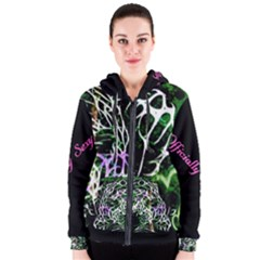 Officially Sexy Panther Collection Green Women s Zipper Hoodie