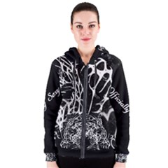 Officially Sexy Panther Collection Black & White Women s Zipper Hoodie