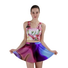Rippling Satin Mini Skirts