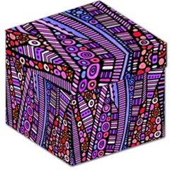 Stained glass tribal pattern Storage Stool 12