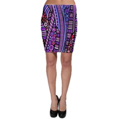 Stained glass tribal pattern Bodycon Skirts