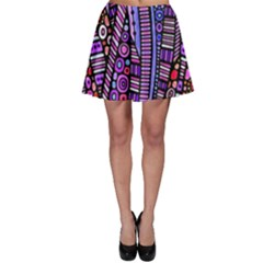 Stained glass tribal pattern Skater Skirts