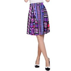 Stained glass tribal pattern A-Line Skirts