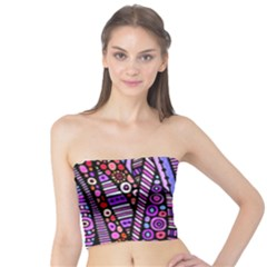 Stained Glass Tribal Pattern Women s Tube Tops