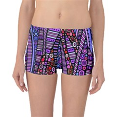 Stained glass tribal pattern Boyleg Bikini Bottoms