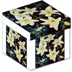 Bright Lilies Storage Stool 12