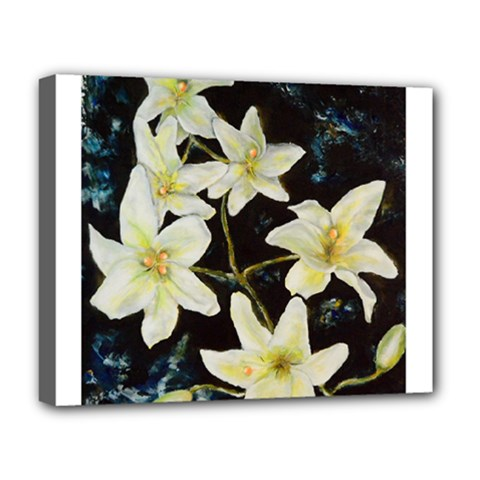Bright Lilies Deluxe Canvas 20  X 16
