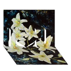 Bright Lilies I Love You 3D Greeting Card (7x5)