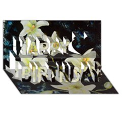 Bright Lilies Happy Birthday 3d Greeting Card (8x4)