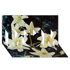 Bright Lilies Mom 3d Greeting Card (8x4)